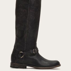 FRYE Boots Phillip Ring Tall sz 10 Black
